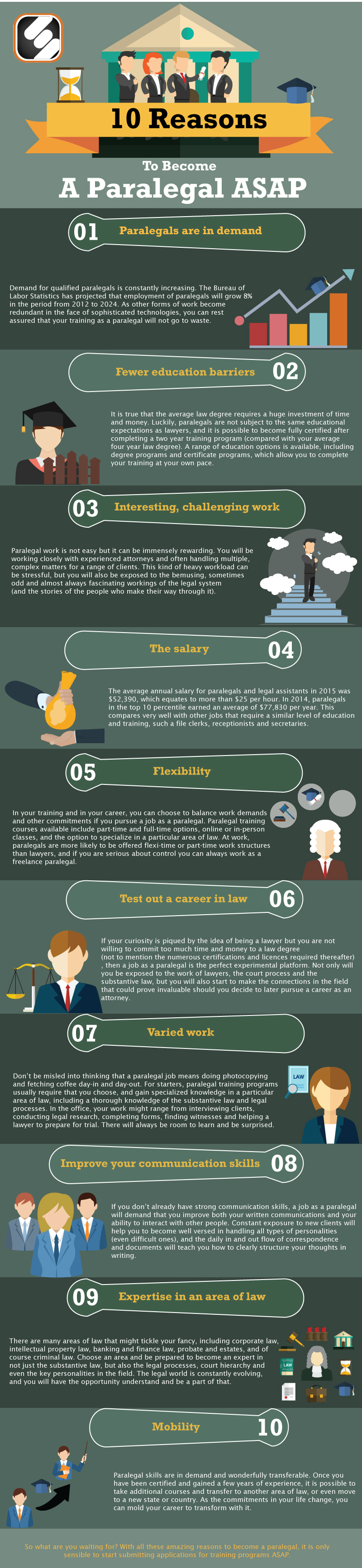 10 Reasons To Become A Paralegal ASAP