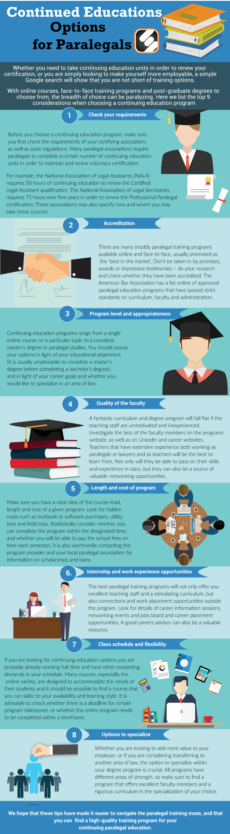 Top Considerations For Paralegals Choosing A Continued Education Program